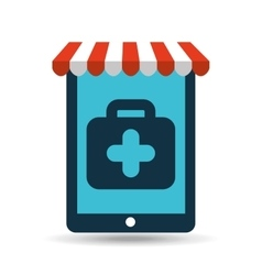 online pet shop and clinic vet vector image