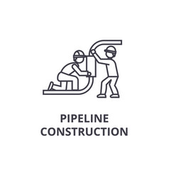 pipeline construction line icon sign vector image