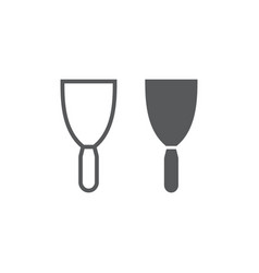 putty knife line and glyph icon tool and scraper vector image