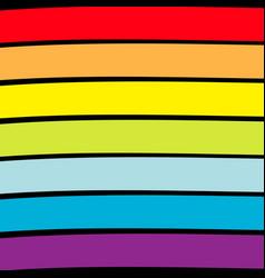 rainbow flag backdrop lgbt gay symbol colorful vector image