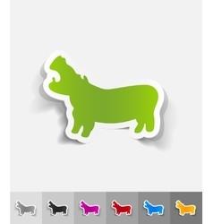 Realistic design element hippopotamus vector