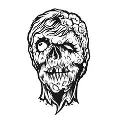 Scream zombie silhouette vector