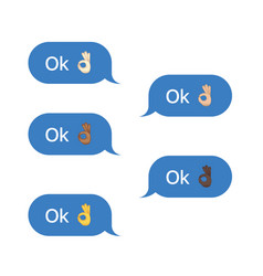 set of sms bubbles messages vector image