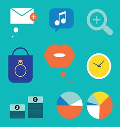 several icons vector image vector image