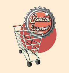 shopping reto style vector image