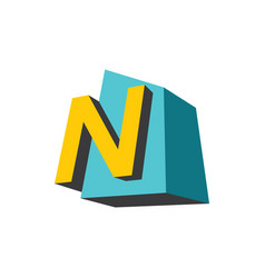 sign of the letter n vector image