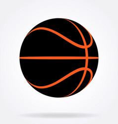Stealth inverted black and orange basketball vector
