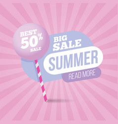 summer sale pastel colors template banner vector image