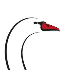swan s head minimalist silhouette isolated vector image