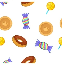 Sweets pattern cartoon style vector