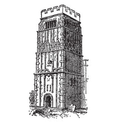 Tower in northamptonshire proportioned west vector