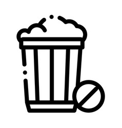 Trash basket icon outline vector