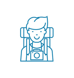 traveler linear icon concept traveler line vector image
