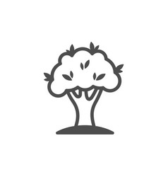 tree outline icon nature simple vector image
