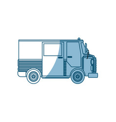 truck postal delivery transport design - shadow vector image