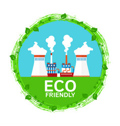 urban ecology eco friendly chemical and vector image