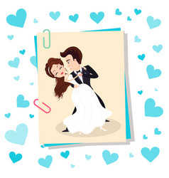 wedding couple dancing bride and groom vector image