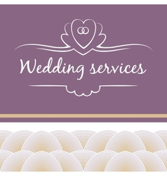 Wedding service vector
