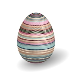 White Single Easter Egg with Abstract vector image