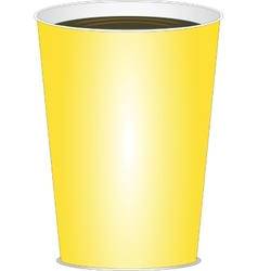 yellow glass of drink vector image