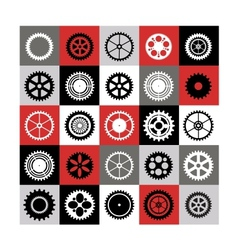Mosaic of gear vector image vector image