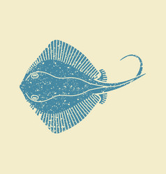 stingray fish icon vector image
