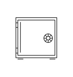 strongbox icon vector image
