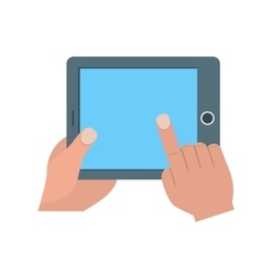 Using Tablet vector image vector image