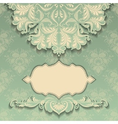 vintage pattern with frame vector image