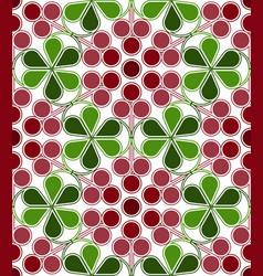 Cranberries pattern vector