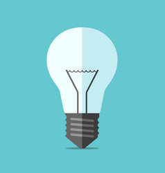 flat style light bulb vector image vector image