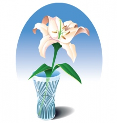 lily in the vase vector image