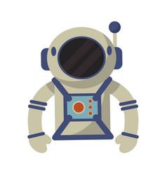 astronaut suit and helmet vector image