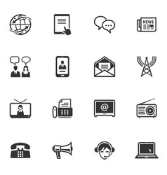 Communication Icons - Set 2 vector image