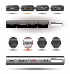 Metallic editable website buttons vector