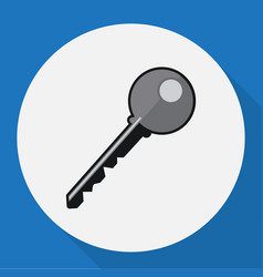 of safety symbol on key flat vector image vector image