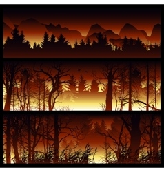 Wildfire background vector image