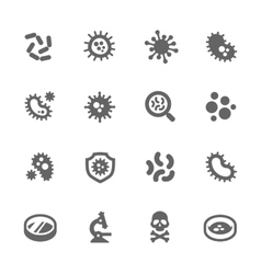 Bacteria Icons vector image vector image