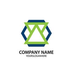 business company logo shape polygon vector image