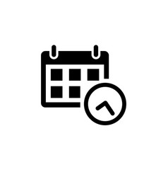 calendar icon in flat style vector image