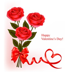 Red roses valentine background vector