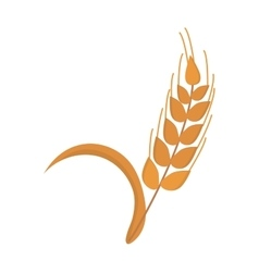 Wheat ear icon nature isolated on white vector image