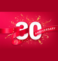 30th anniversary celebration banner template vector image