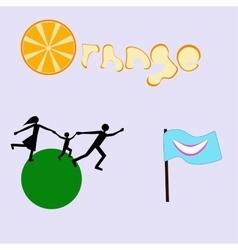 A set of logos vector image