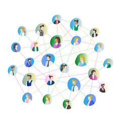abstract people connection vector image