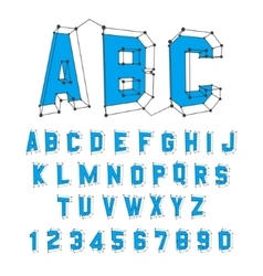 Alphabet set 3d Design vector image