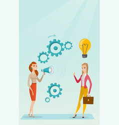 Announcement for business idea vector