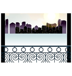 Balcony Cityscape View vector image