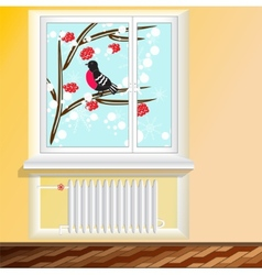 battery under the window vector image