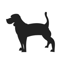 Beagle black silhouette vector